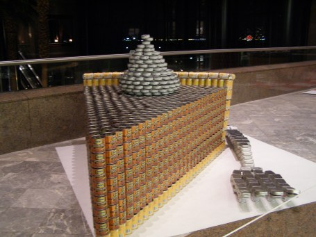 PumpCAN pie Canstruction
